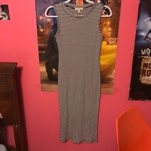 Modcloth dress medium black stripe